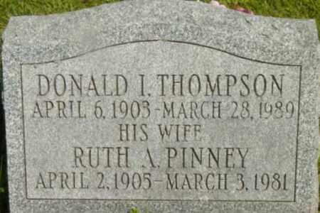 THOMPSON, DONALD I - Berkshire County, Massachusetts | DONALD I THOMPSON - Massachusetts Gravestone Photos