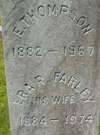 THOMPSON, E - Berkshire County, Massachusetts | E THOMPSON - Massachusetts Gravestone Photos