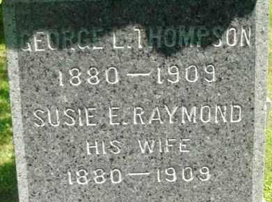 THOMPSON, SUSIE E - Berkshire County, Massachusetts | SUSIE E THOMPSON - Massachusetts Gravestone Photos