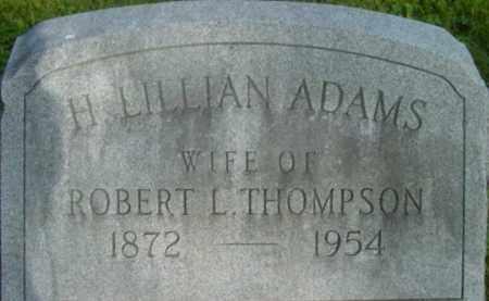 THOMPSON, H LILLIAN - Berkshire County, Massachusetts   H LILLIAN THOMPSON - Massachusetts Gravestone Photos