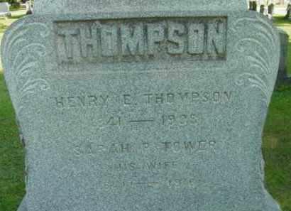 THOMPSON, SARAH R - Berkshire County, Massachusetts | SARAH R THOMPSON - Massachusetts Gravestone Photos