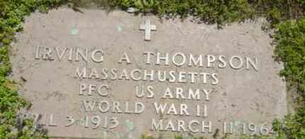 THOMPSON, IRVING A - Berkshire County, Massachusetts | IRVING A THOMPSON - Massachusetts Gravestone Photos