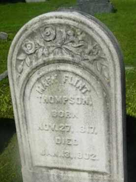 THOMPSON, MARY FLINT - Berkshire County, Massachusetts | MARY FLINT THOMPSON - Massachusetts Gravestone Photos