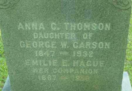 CARSON, ANNA C - Berkshire County, Massachusetts | ANNA C CARSON - Massachusetts Gravestone Photos