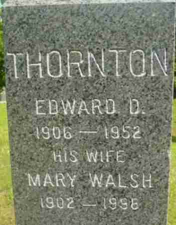 THORNTON, EDWARD D - Berkshire County, Massachusetts | EDWARD D THORNTON - Massachusetts Gravestone Photos