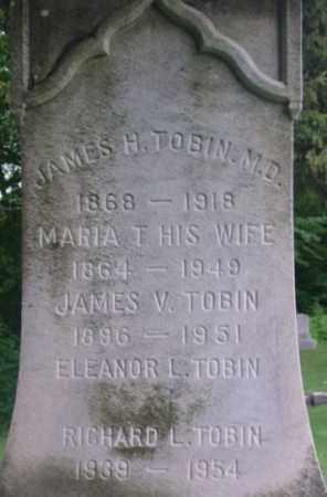 TOBIN, JAMES H - Berkshire County, Massachusetts | JAMES H TOBIN - Massachusetts Gravestone Photos