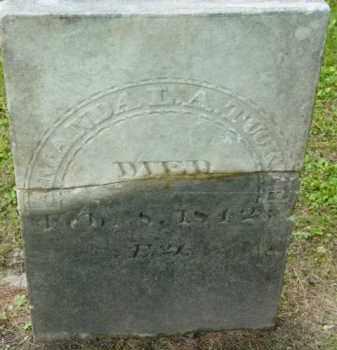 TUCKER, AMANDA L A - Berkshire County, Massachusetts | AMANDA L A TUCKER - Massachusetts Gravestone Photos