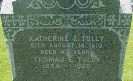 TULLY, KATHERINE E - Berkshire County, Massachusetts | KATHERINE E TULLY - Massachusetts Gravestone Photos