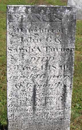 TURNER, FRANCES - Berkshire County, Massachusetts | FRANCES TURNER - Massachusetts Gravestone Photos
