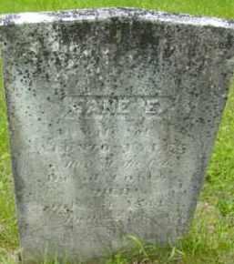 TYLER, JANE E - Berkshire County, Massachusetts | JANE E TYLER - Massachusetts Gravestone Photos