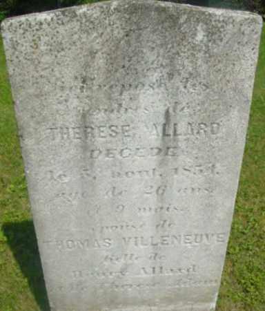 ALLARD, THERESE - Berkshire County, Massachusetts   THERESE ALLARD - Massachusetts Gravestone Photos