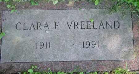 VREELAND, CLARA F - Berkshire County, Massachusetts   CLARA F VREELAND - Massachusetts Gravestone Photos