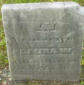 WALDO, LAURA W - Berkshire County, Massachusetts | LAURA W WALDO - Massachusetts Gravestone Photos