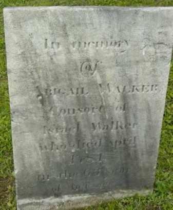 WALKER, ABIGAIL - Berkshire County, Massachusetts | ABIGAIL WALKER - Massachusetts Gravestone Photos