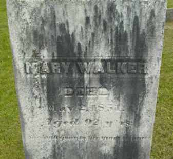WALKER, MARY - Berkshire County, Massachusetts | MARY WALKER - Massachusetts Gravestone Photos