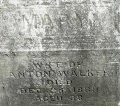 WALKER, MARY - Berkshire County, Massachusetts | MARY WALKER - Massachusetts Gravestone Photos