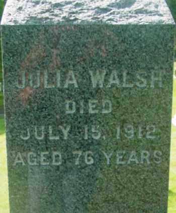 WALSH, JULIA - Berkshire County, Massachusetts | JULIA WALSH - Massachusetts Gravestone Photos