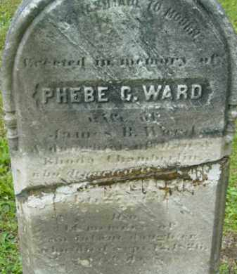 WARD, PHEBE - Berkshire County, Massachusetts | PHEBE WARD - Massachusetts Gravestone Photos