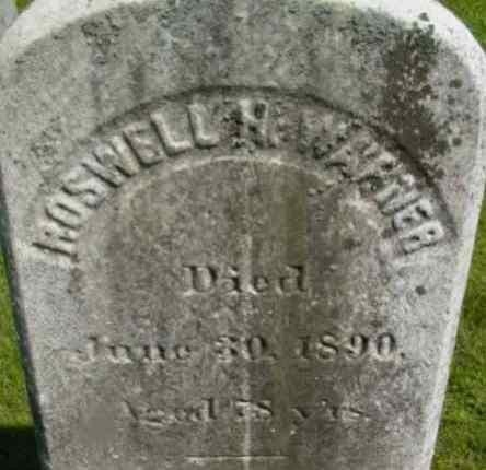 WARNER, ROSWELL H - Berkshire County, Massachusetts | ROSWELL H WARNER - Massachusetts Gravestone Photos