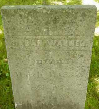 WARNER, SARAH - Berkshire County, Massachusetts | SARAH WARNER - Massachusetts Gravestone Photos