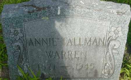 WARREN, ANNIE - Berkshire County, Massachusetts | ANNIE WARREN - Massachusetts Gravestone Photos
