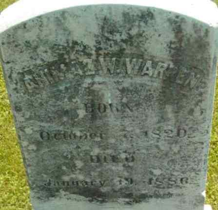 WARREN, AHIMAZ W - Berkshire County, Massachusetts | AHIMAZ W WARREN - Massachusetts Gravestone Photos