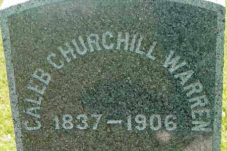 WARREN, CALEB CHURCHILL - Berkshire County, Massachusetts | CALEB CHURCHILL WARREN - Massachusetts Gravestone Photos