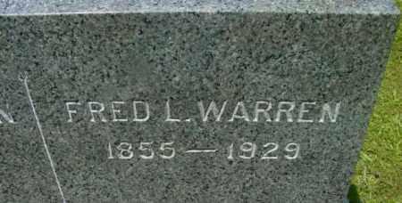 WARREN, FRED L - Berkshire County, Massachusetts | FRED L WARREN - Massachusetts Gravestone Photos