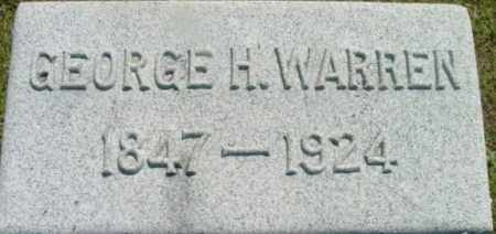 WARREN, GEORGE H - Berkshire County, Massachusetts | GEORGE H WARREN - Massachusetts Gravestone Photos