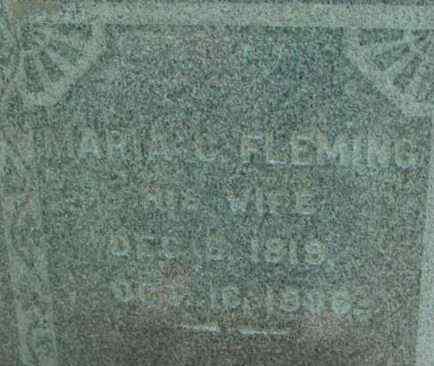 FLEMING, MARIA C - Berkshire County, Massachusetts | MARIA C FLEMING - Massachusetts Gravestone Photos