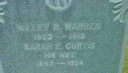 WARREN, WILLEY B - Berkshire County, Massachusetts | WILLEY B WARREN - Massachusetts Gravestone Photos
