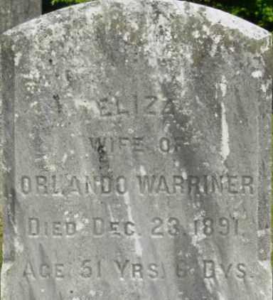 WARRINER, ELIZA - Berkshire County, Massachusetts   ELIZA WARRINER - Massachusetts Gravestone Photos