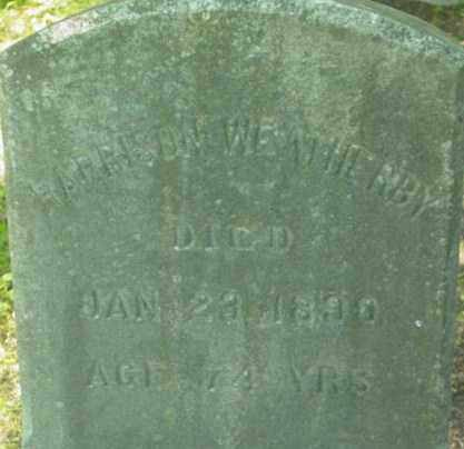 WEATHERBY, HARRISON - Berkshire County, Massachusetts | HARRISON WEATHERBY - Massachusetts Gravestone Photos