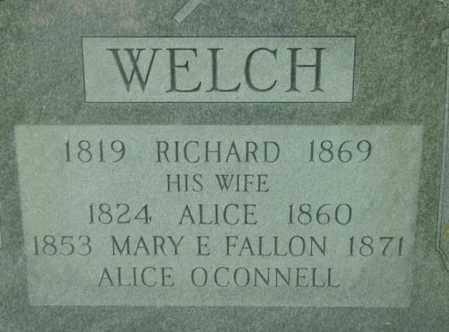 WELCH, ALICE - Berkshire County, Massachusetts | ALICE WELCH - Massachusetts Gravestone Photos