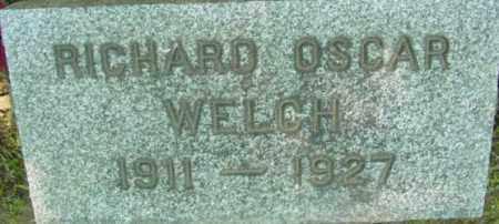 WELCH, RICHARD OSCAR - Berkshire County, Massachusetts | RICHARD OSCAR WELCH - Massachusetts Gravestone Photos