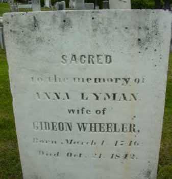 WHEELER, ANNA - Berkshire County, Massachusetts | ANNA WHEELER - Massachusetts Gravestone Photos