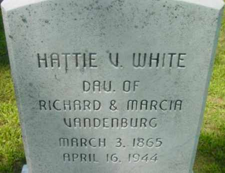 WHITE, HATTIE V - Berkshire County, Massachusetts | HATTIE V WHITE - Massachusetts Gravestone Photos