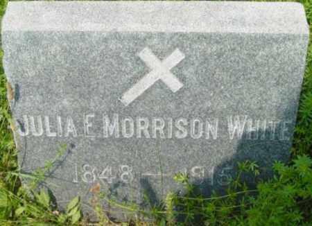 WHITE, JULIA F - Berkshire County, Massachusetts | JULIA F WHITE - Massachusetts Gravestone Photos
