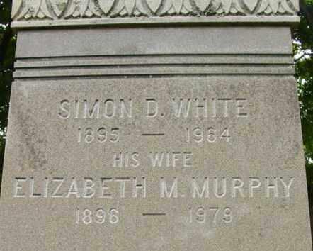 MURPHY WHITE, ELIZABETH M - Berkshire County, Massachusetts   ELIZABETH M MURPHY WHITE - Massachusetts Gravestone Photos