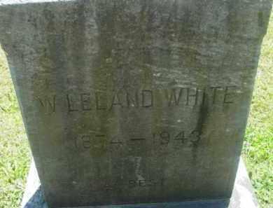 WHITE, W LELAND - Berkshire County, Massachusetts | W LELAND WHITE - Massachusetts Gravestone Photos