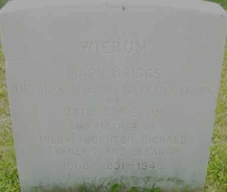 BRIGGS, MARY - Berkshire County, Massachusetts | MARY BRIGGS - Massachusetts Gravestone Photos