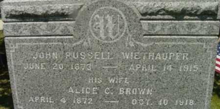 BROWN, ALICE C - Berkshire County, Massachusetts | ALICE C BROWN - Massachusetts Gravestone Photos