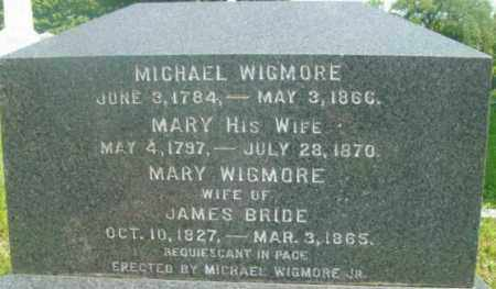 WIGMORE, MARY - Berkshire County, Massachusetts | MARY WIGMORE - Massachusetts Gravestone Photos