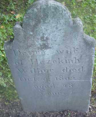 WILBUR, DESIRE - Berkshire County, Massachusetts | DESIRE WILBUR - Massachusetts Gravestone Photos