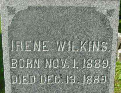 WILKINS, IRENE - Berkshire County, Massachusetts | IRENE WILKINS - Massachusetts Gravestone Photos