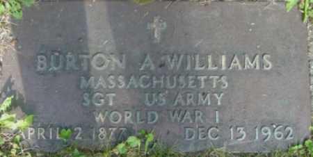 WILLIAMS, BURTON A - Berkshire County, Massachusetts   BURTON A WILLIAMS - Massachusetts Gravestone Photos