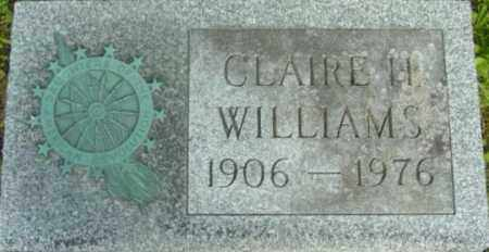 WILLIAMS, CLAIRE H - Berkshire County, Massachusetts | CLAIRE H WILLIAMS - Massachusetts Gravestone Photos