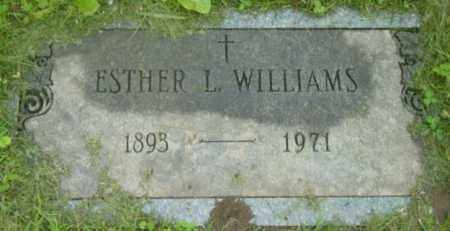 WILLIAMS, ESTHER L - Berkshire County, Massachusetts | ESTHER L WILLIAMS - Massachusetts Gravestone Photos