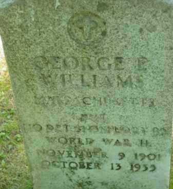 WILLIAMS, GEORGE E - Berkshire County, Massachusetts | GEORGE E WILLIAMS - Massachusetts Gravestone Photos