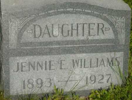 WILLIAMS, JENNIE E - Berkshire County, Massachusetts | JENNIE E WILLIAMS - Massachusetts Gravestone Photos